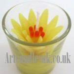 Glass Votive Flower Candle